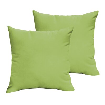 Branan Square Knife Edge Indoor/Outdoor Throw Pillow Size: 18 H x 18 W x 6 D, Color: Light Blue