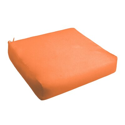 Outdoor Chair Cushion Fabric: Bright Orange