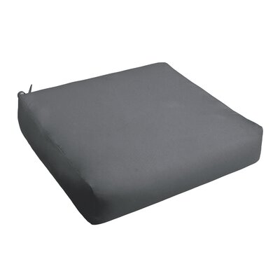 Outdoor Chair Cushion Fabric: Charcoal