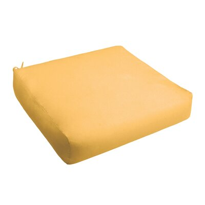 Outdoor Chair Cushion Fabric: Butter Yellow