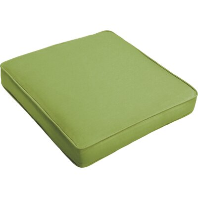 Outdoor Dining Chair Cushion Fabric: Apple Green