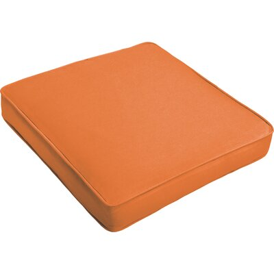 Outdoor Dining Chair Cushion Fabric: Bright Orange