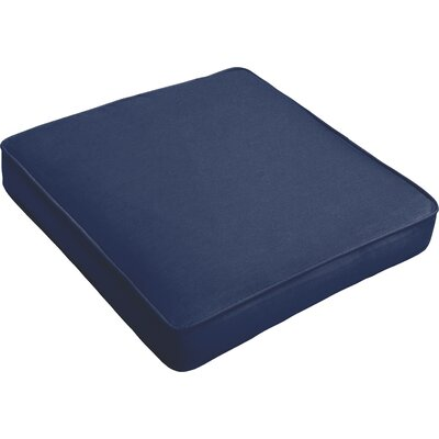 Outdoor Dining Chair Cushion Fabric: Dark Blue