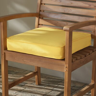 Outdoor Dining Chair Cushion Fabric: Butter Yellow