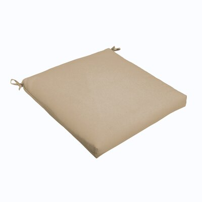 Outdoor Dining Chair Cushion Color: Beige, Size: 19 L x 19 W
