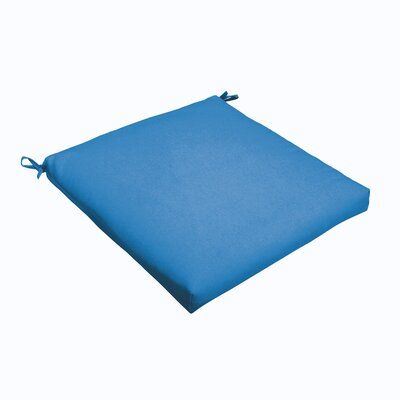 Outdoor Dining Chair Cushion Color: Light Blue, Size: 20 L x 20 W