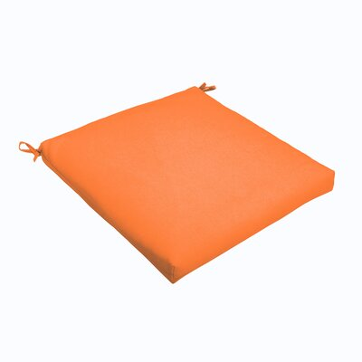 Outdoor Dining Chair Cushion Color: Bright Orange, Size: 19 L x 19 W