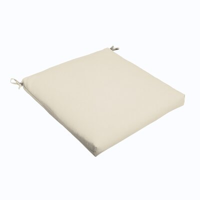 Outdoor Dining Chair Cushion Color: Ivory, Size: 19 L x 19 W