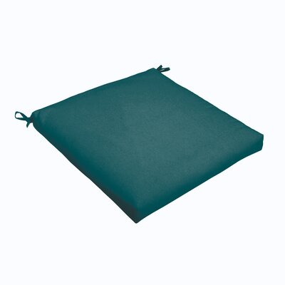 Outdoor Dining Chair Cushion Color: Teal, Size: 20 L x 20 W