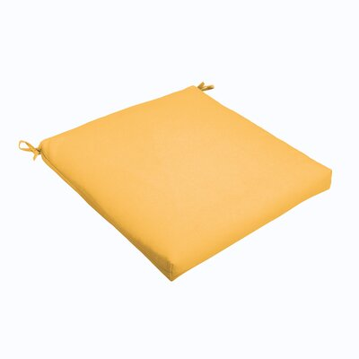 Outdoor Dining Chair Cushion Color: Butter Yellow, Size: 19 L x 19 W