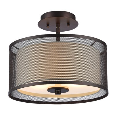Brandow 2-Light Semi Flush Mount