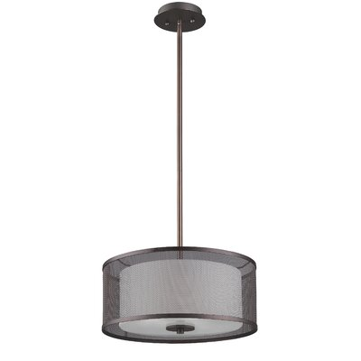 Normandin 3-Light Drum Pendant