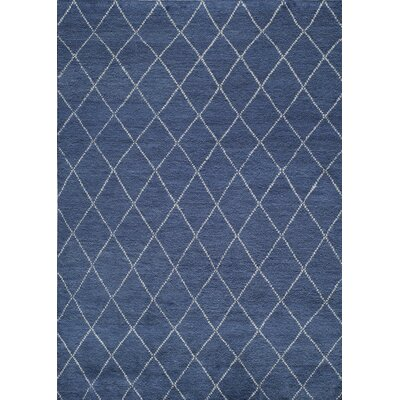 Brice Hand-Knotted Navy Area Rug Rug Size: Runner 2'3