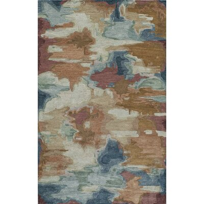 Vallone Hand-Tufted�Brown/Blue Area Rug Rug Size: 5 x 8