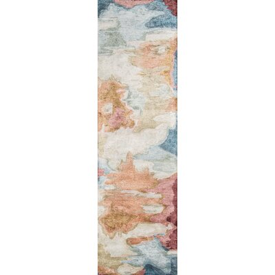 Vallone Hand-Tufted�Brown/Blue Area Rug Rug Size: Runner 23 x 8