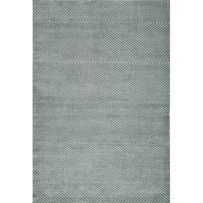 Bridges Hand-Loomed�Seafoam Area Rug Rug Size: Rectangle 36 x 56