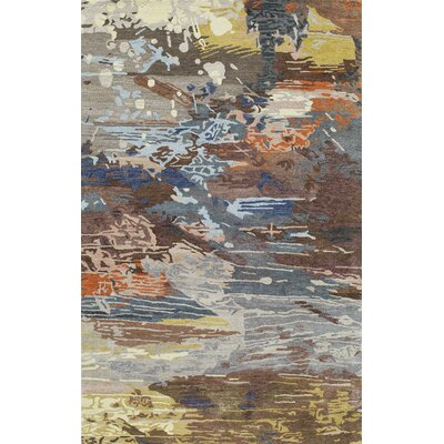 Brooks Hand-Tufted�Multi Area Rug Rug Size: 86 x 116