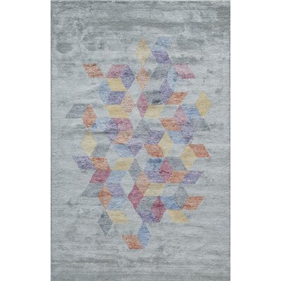 Brooks Hand-Tufted Gray Area Rug Rug Size: Rectangle 76 x 96