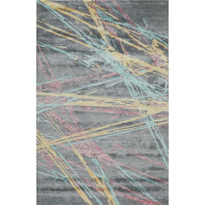 Vallone Hand-Tufted Gray/Yellow Area Rug Rug Size: Rectangle 5 x 8