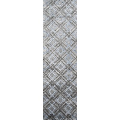 Brooks Hand-Tufted�Silver Area Rug Rug Size: 76 x 96