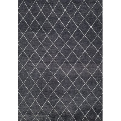 Brice Hand-Knotted Charcoal Area Rug Rug Size: Rectangle 96 x 136