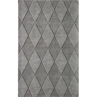 Bristol Hand-Tufted Gray Area Rug Rug Size: Rectangle 5 x 8