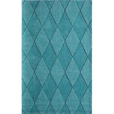 Bristol Hand-Tufted Teal Area Rug Rug Size: Rectangle 5 x 8