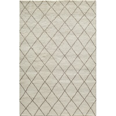 Brice Hand-Knotted Ivory Area Rug Rug Size: Runner 23 x 8