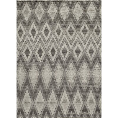 Brice Hand-Knotted Natural Area Rug Rug Size: 36 x 56