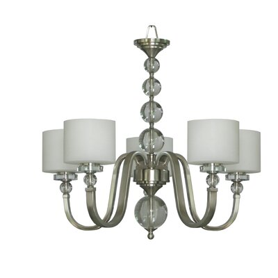 Winder 5-Light Satin Steel Drum Chandelier