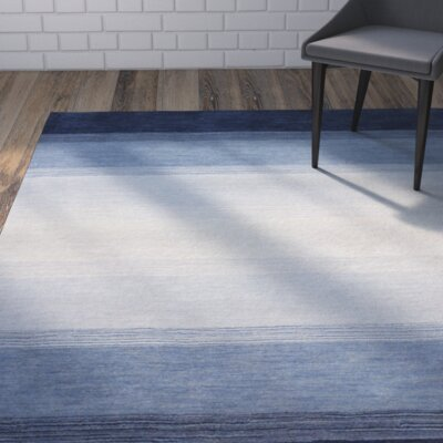 Guadeloupe Hand-Woven Blue Area Rug Rug Size: 36 x 56
