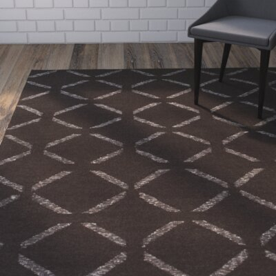 Hand-Woven Chocolate Area Rug Rug Size: Rectangle 9 x 13