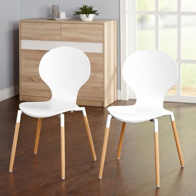Brannen Side Chair Finish: White/Natural