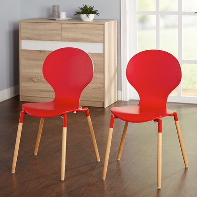 Brannen Side Chair Finish: Red/Natural