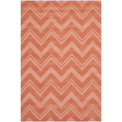 Nishi Rust Orange Area Rug Rug Size: 4 x 6
