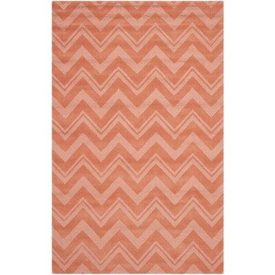 Nishi Rust Orange Area Rug Rug Size: Rectangle 76 x 96