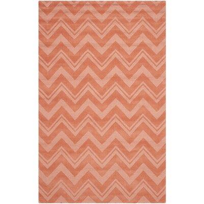 Brantley Rust Orange Area Rug Rug Size: 76 x 96