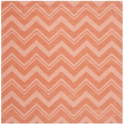 Brantley Rust Orange Area Rug Rug Size: Square 6