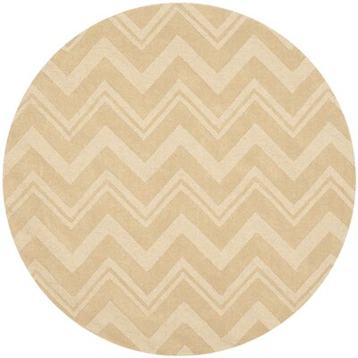 Brantley Beige Area Rug Rug Size: Round 5