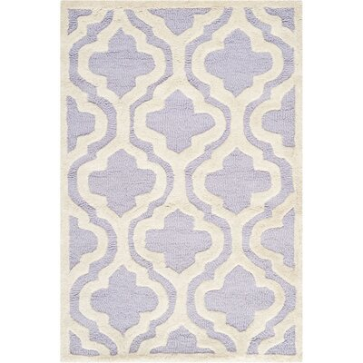 Darla Lavander / Ivory Area Rug Rug Size: Rectangle 26 x 4