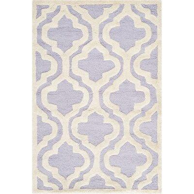 Darla Lavander / Ivory Area Rug Rug Size: 3 x 5