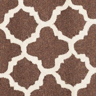 Darla Dark Brown/Ivory Trellis Area Rug Rug Size: Square 8