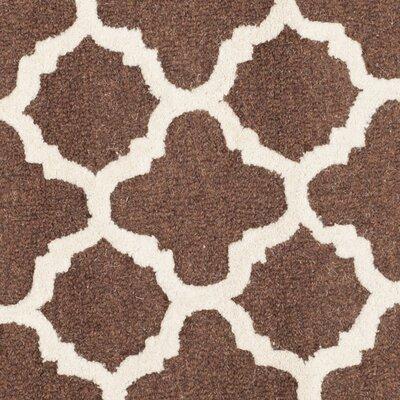 Darla Dark Brown/Ivory Trellis Area Rug Rug Size: 6 x 9