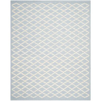 Darla Hand-Tufted Wool Light Blue/Ivory Area Rug Rug Size: Rectangle 9 x 12