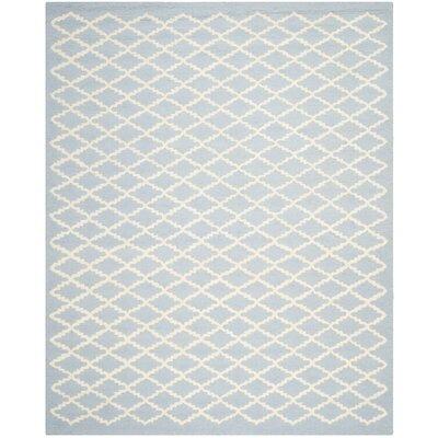 Darla Light Blue / Ivory Area Rug Rug Size: 9 x 12