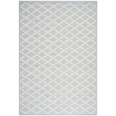 Darla Light Blue / Ivory Area Rug Rug Size: 6 x 9