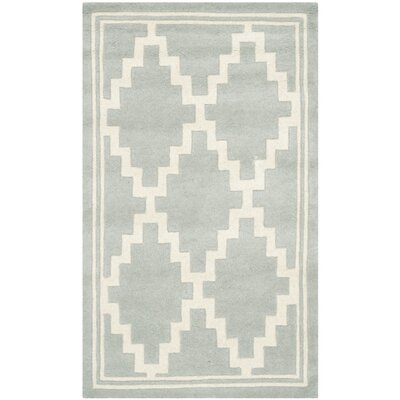 Wilkin Hand-Tufted Wool Gray Rug Rug Size: Rectangle 5 x 8