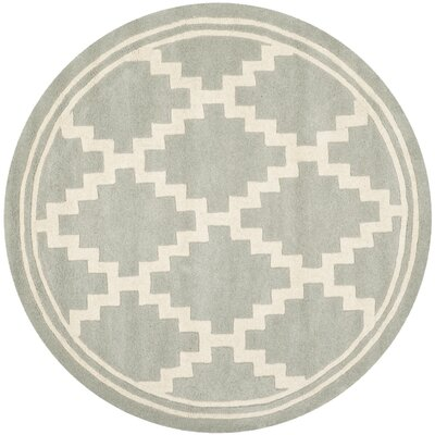 Wilkin Hand-Tufted Wool Gray Rug Rug Size: Round 5