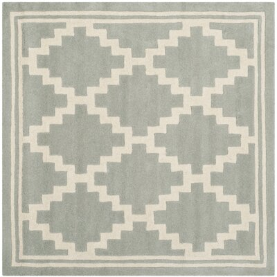 Wilkin Hand-Tufted Wool Gray Rug Rug Size: Square 5