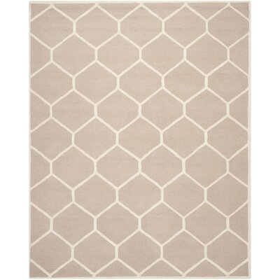 Darla Beige/Ivory Geometric Area Rug Rug Size: Rectangle 6 x 9
